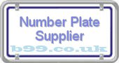 number-plate-supplier.b99.co.uk
